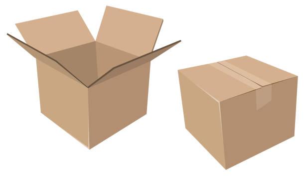 Best Cardboard Box Illustrations, Royalty.