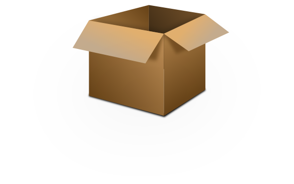 Open cardboard box clipart.