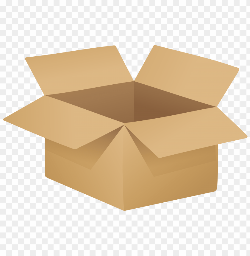 Download open cardboard box clipart png photo.