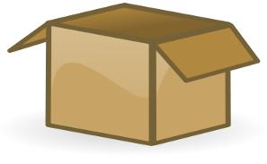 Free Cardboard Box Clipart, 1 page of Public Domain Clip Art.