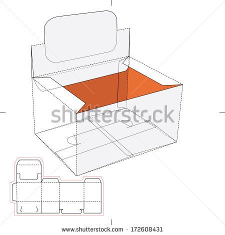 Box with Blueprint Layout.