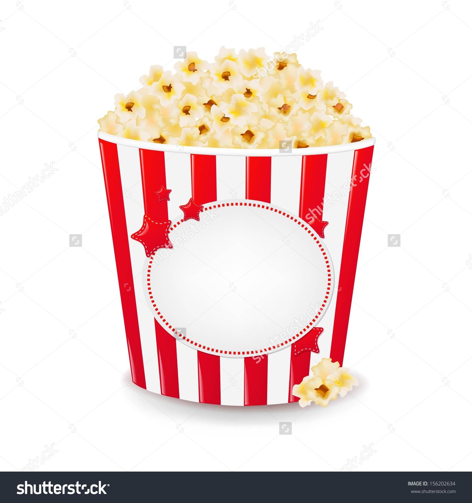Popcorn Cardboard Box Gradient Mesh Vector Stock Vector 156202634.