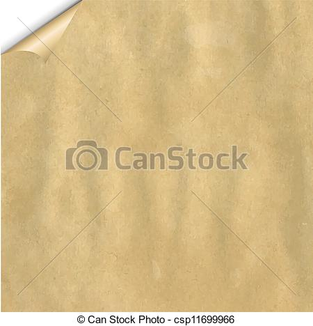 Clip Art Vector of Vintage Cardboard With Corner With Gradient.