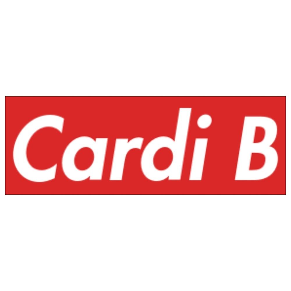 Cardi B Supreme Logo\
