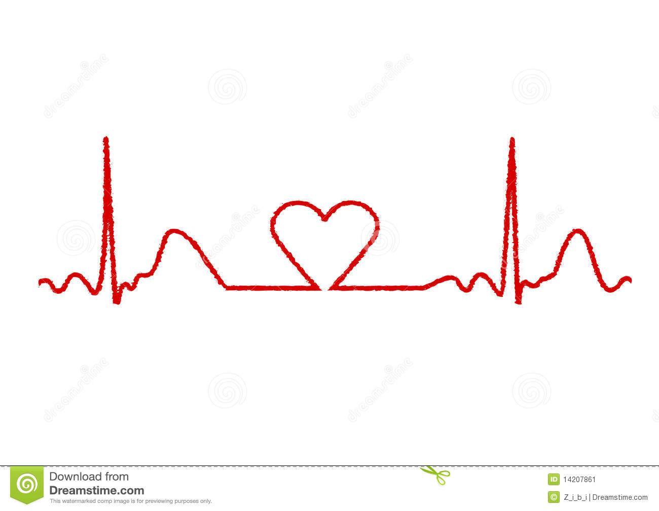 Cardiac rhythm clipart.