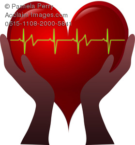 Cardiac Arrhythmia Clip Art.