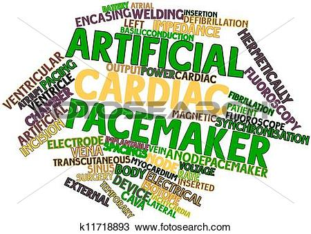 Drawing of Word cloud for Artificial cardiac pacemaker k11718893.