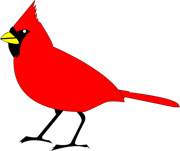 Red cardinal clipart #16