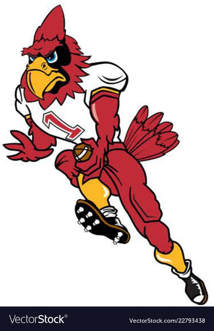 Cardinal football sports logo mascot.