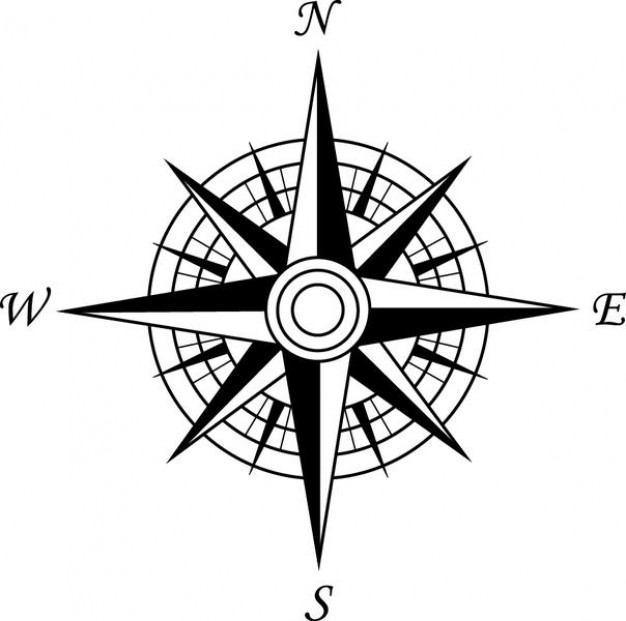 Point of the compass clipart #1