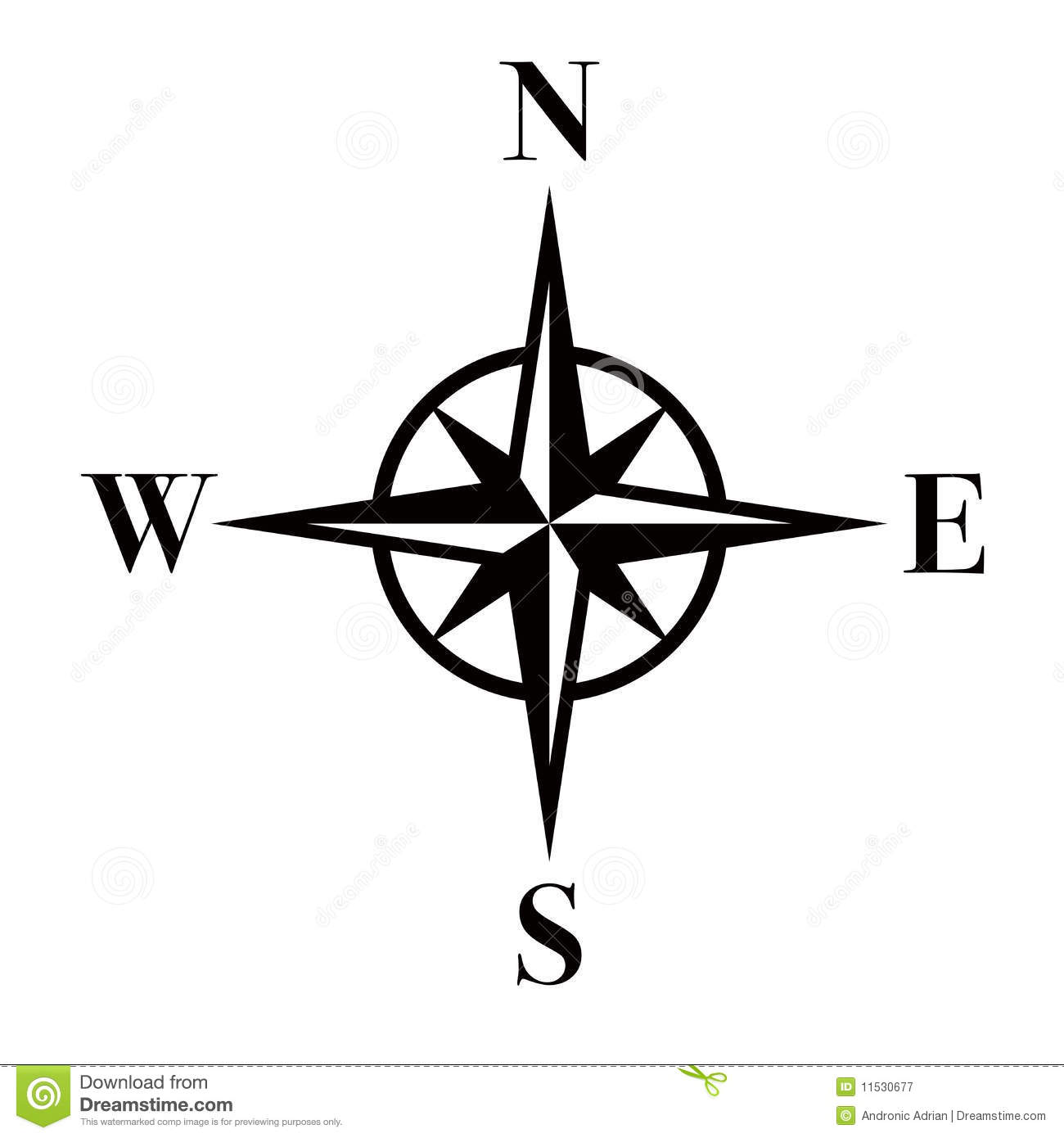 Point of the compass clipart #9