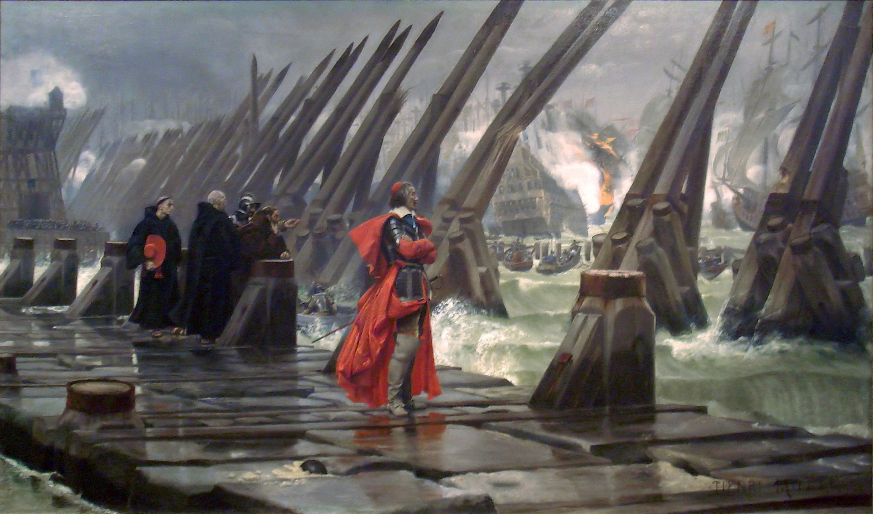 Cardinal Richelieu at the Siege of La Rochelle, France in 1881.