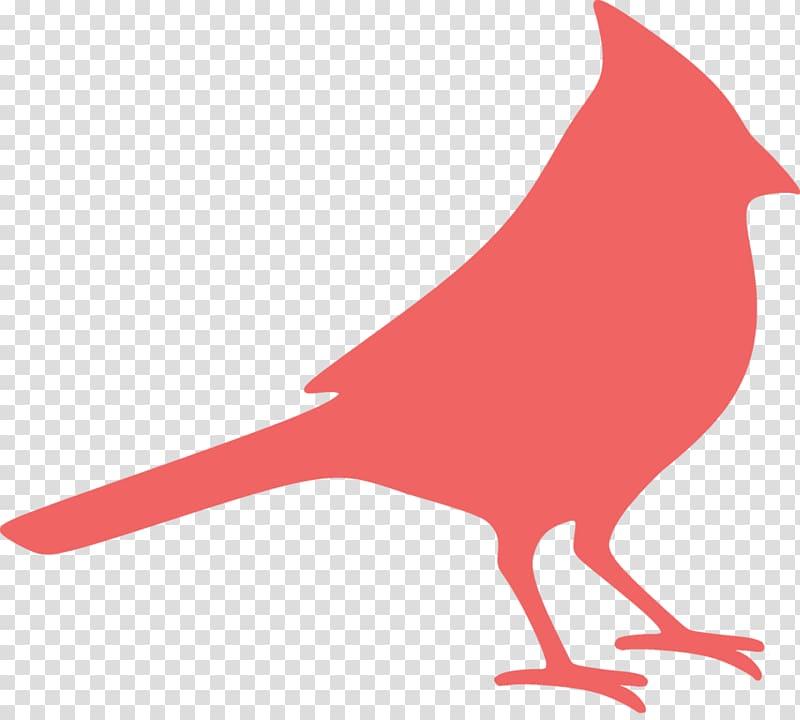 Silhouette Northern cardinal , Silhouette transparent.