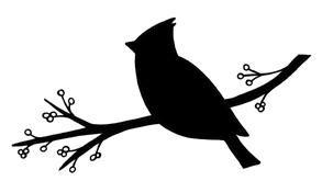 Cardinal Silhouette.