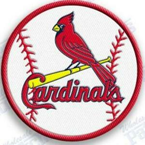Details about ST. LOUIS CARDINALS iron on embroidered embroidery patch  baseball logo mlb.