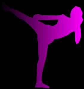 Cardio Kickboxing Clip Art.