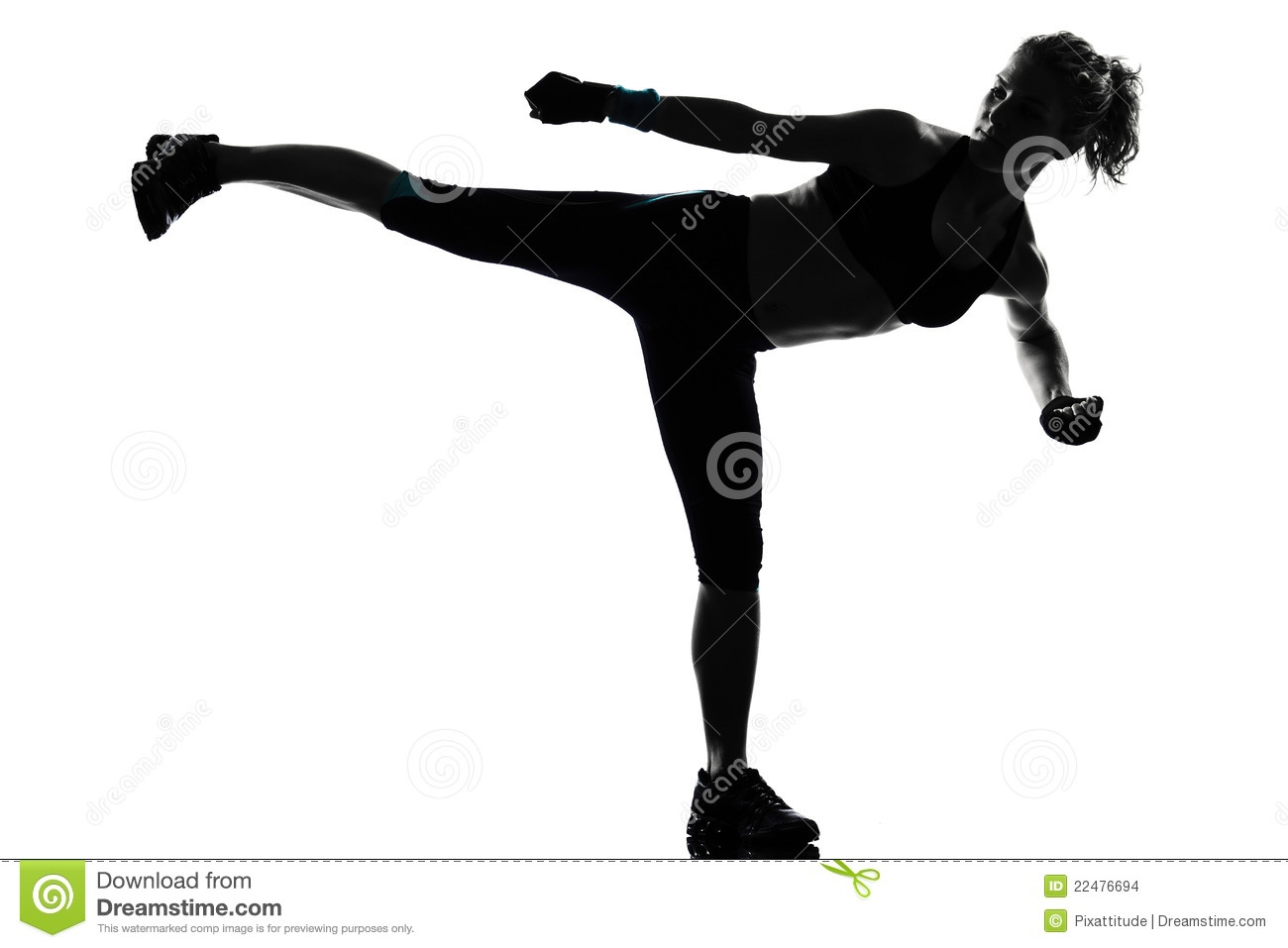 Cardio Kickboxing Clipart#1898632.