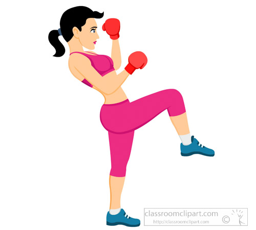 Kick Boxing Clipart.
