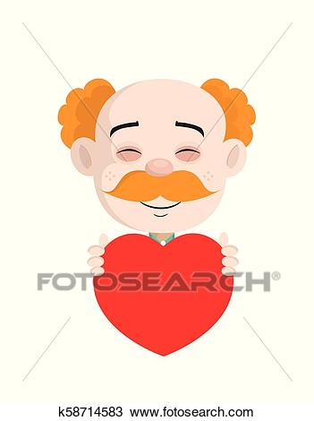 Happy Cardiologist Doctor Holding a Heart Vector Clipart.