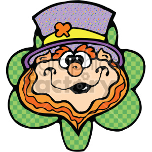 leprechaun cartoon 005 c clipart. Royalty.
