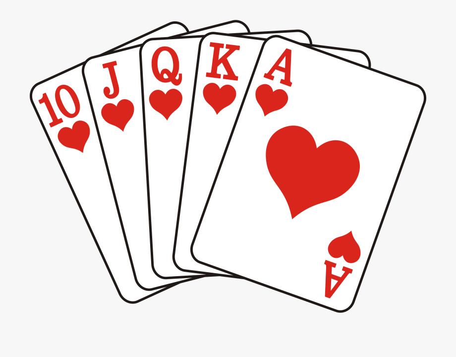 Cards Clipart Straight Flush.