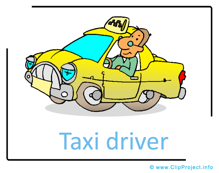 Taxi Driver Clipart.
