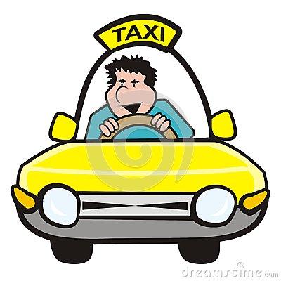 Cab driver clipart.