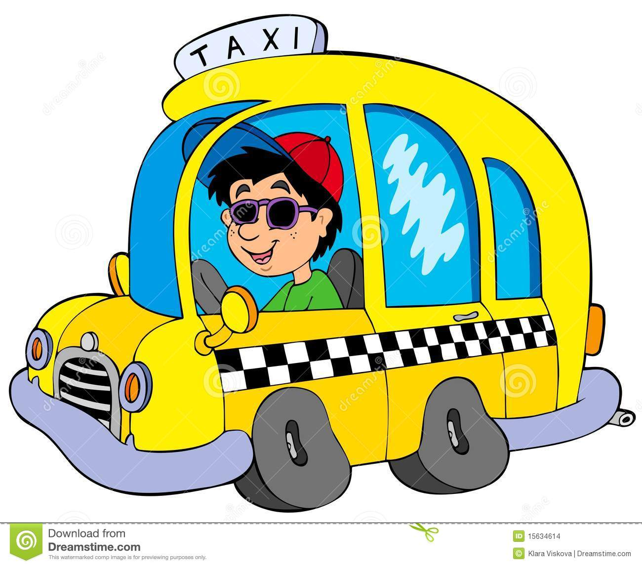 Showing post & media for Cartoon taxi driver clip art.