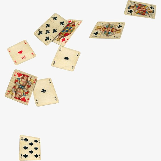 Poker, Creative Cards, Yellowed Cards, Vintage Playing Cards PNG.