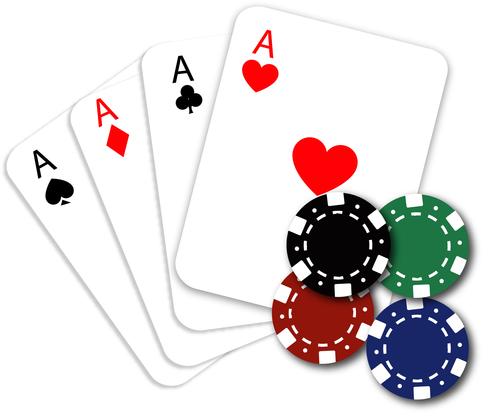 Four Aces Poker Cards Clip Art Vector Free Download.