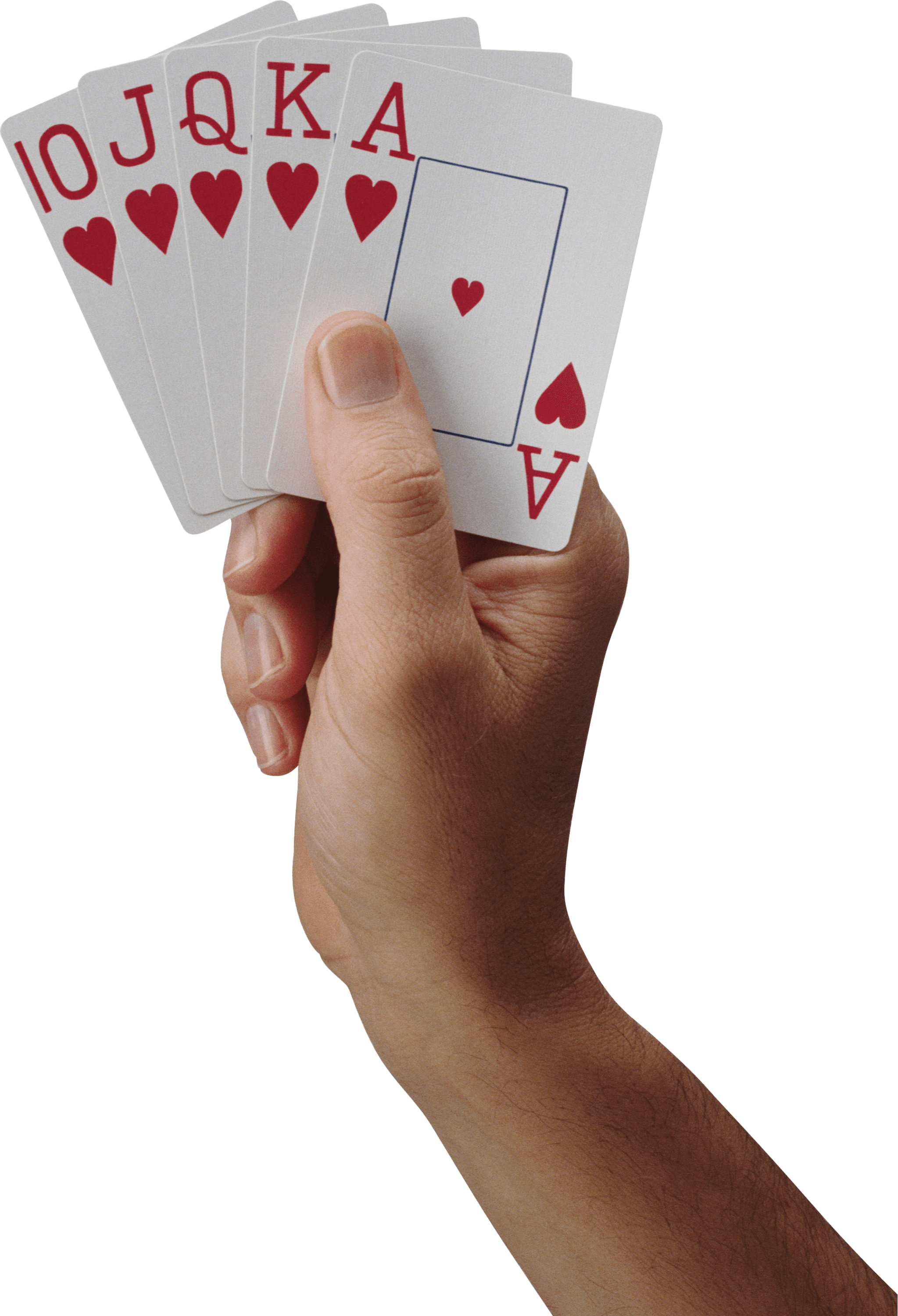 Hand Holding Cards transparent PNG.