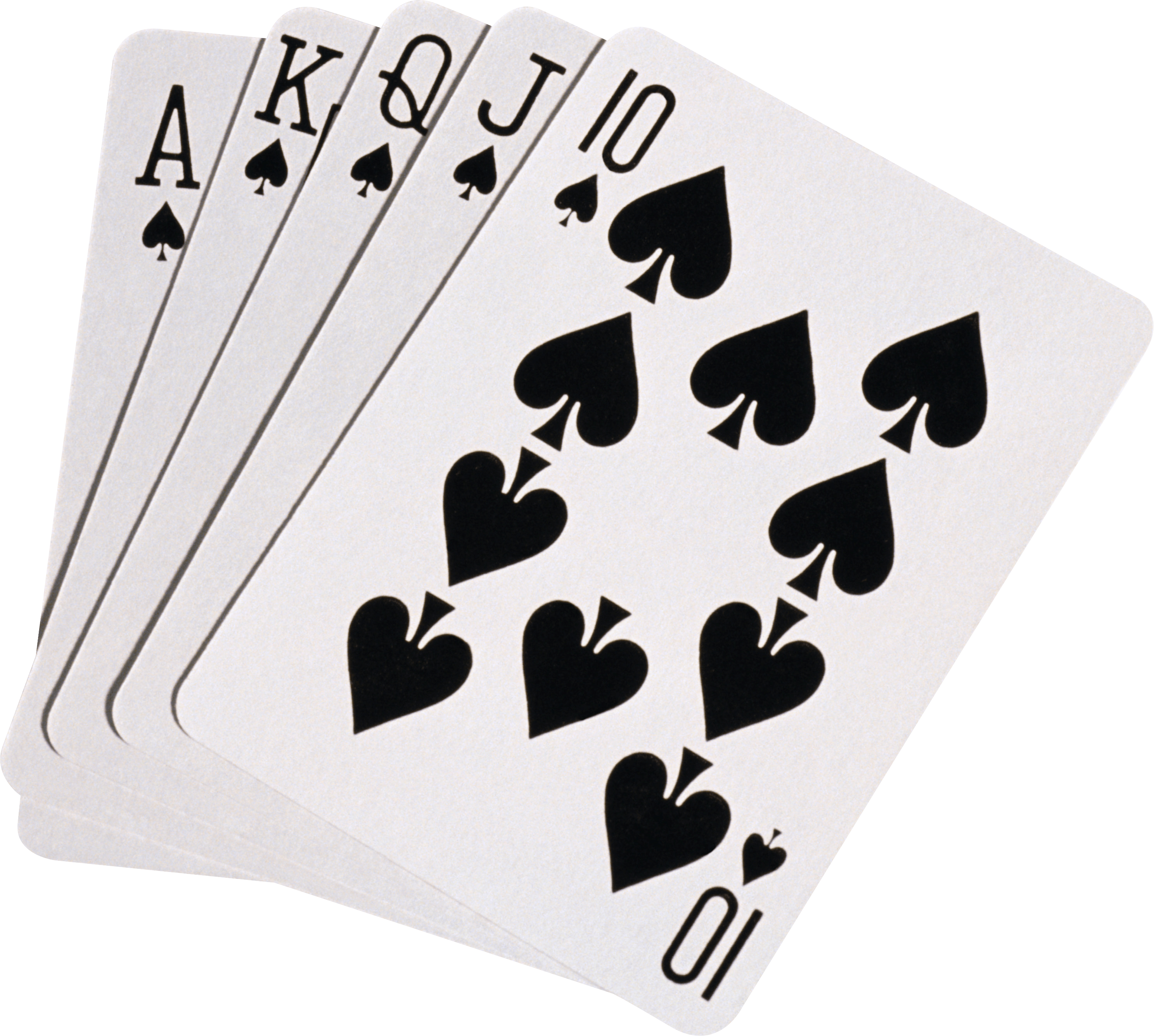 Black Playing Cards transparent PNG.
