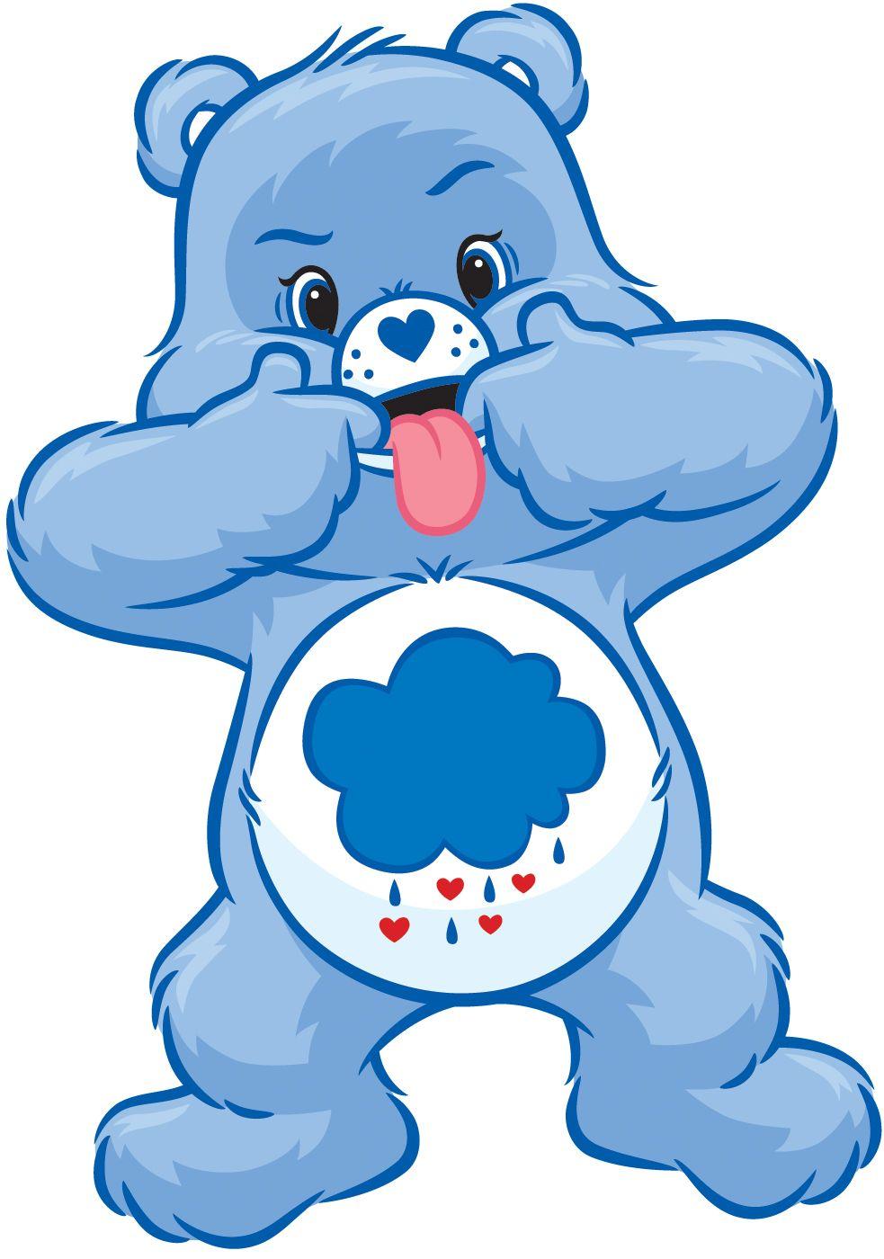 Grumpy Bear at his best! Lol!.
