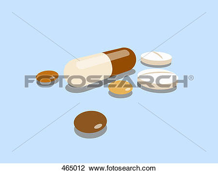Clip Art of Pills, capsules and tablets 465012.
