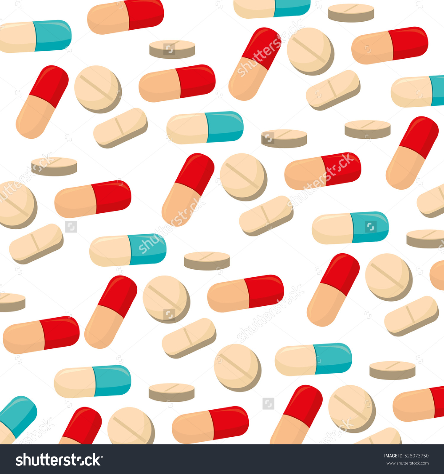 Capsules Pills Medical Care Stock Vector 528073750.