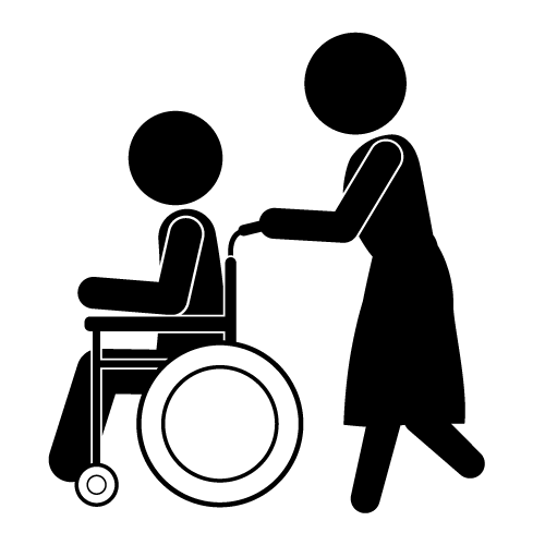 Elder Home Care Clip Art.