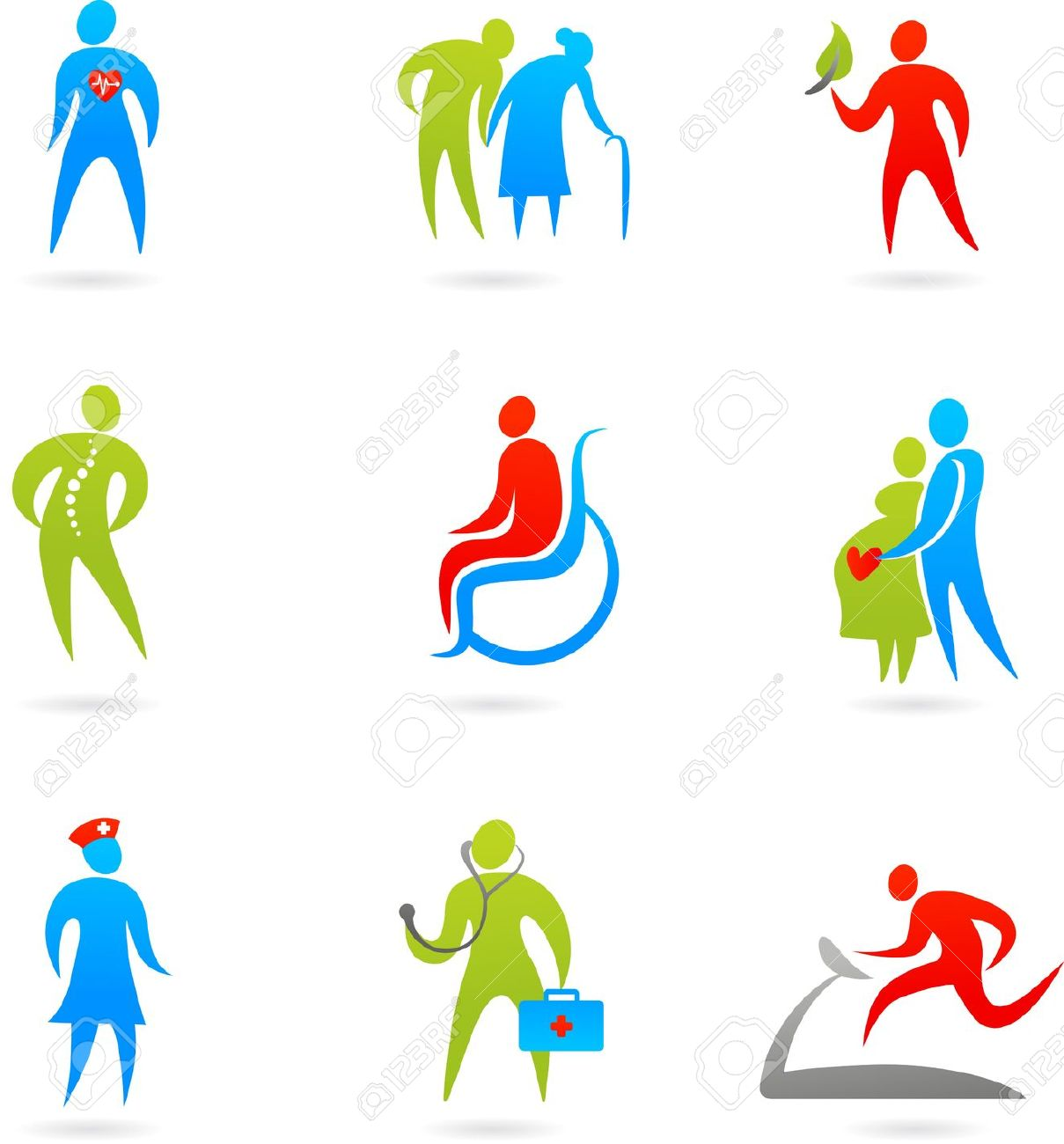 Free clipart images of caring for the elderly.
