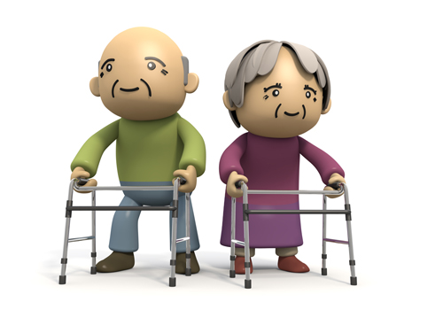 Caring for elderly clip art.