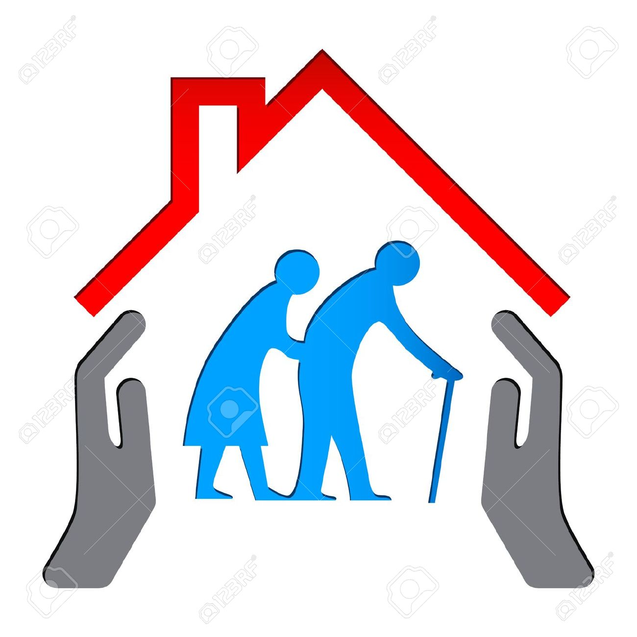 Nursing Elderly Care Clip Art.