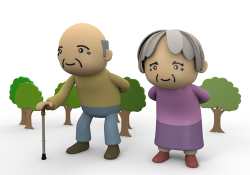 Caring for elderly clip art.