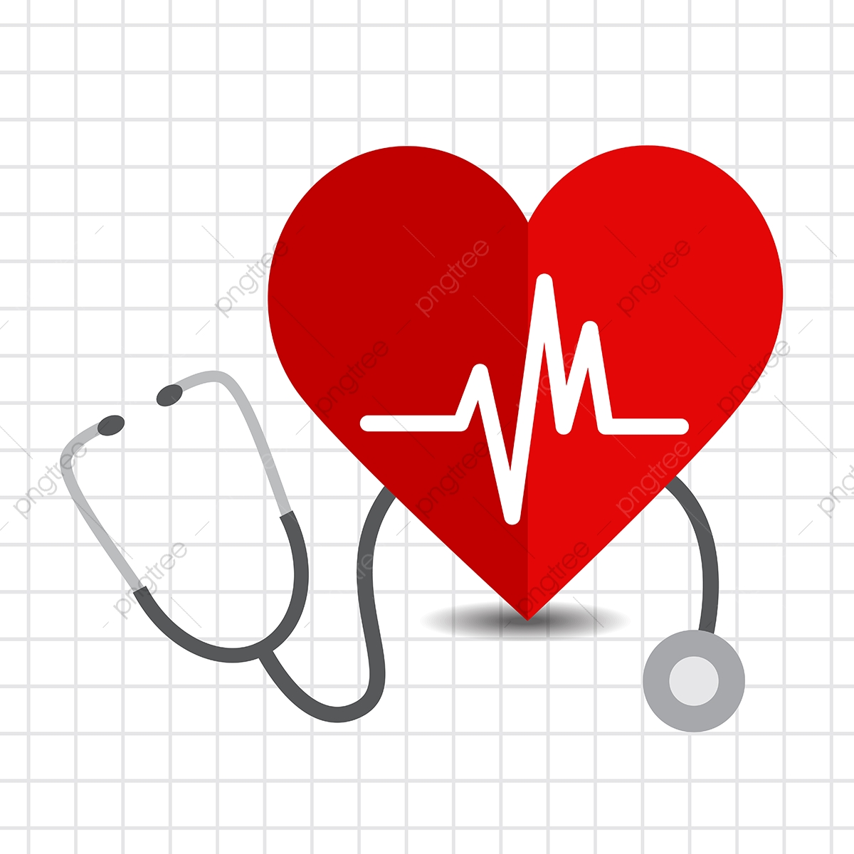 Heart Care Icon With A Stethoscope, Background, Beat, Blood PNG and.
