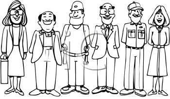 Career Day Clipart Black And White.