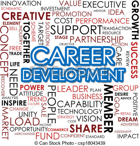 Career development word cloud.