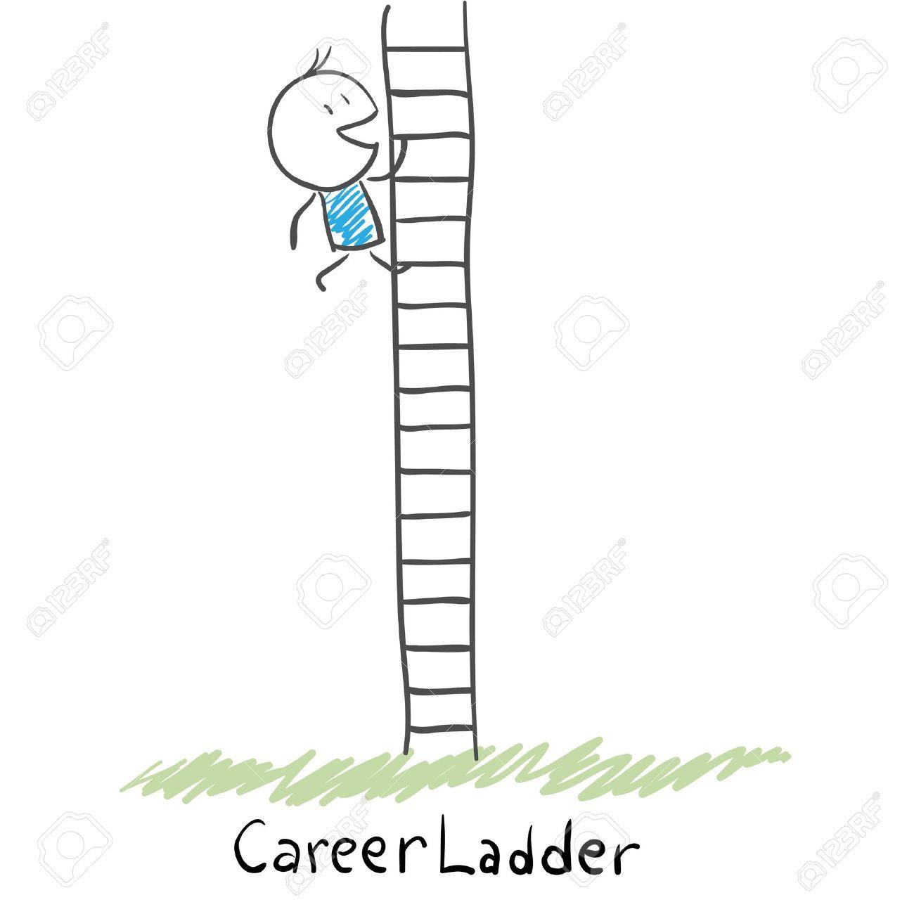 Man work ladder clipart.