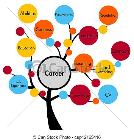 Clipart of career concept tree csp12165416.