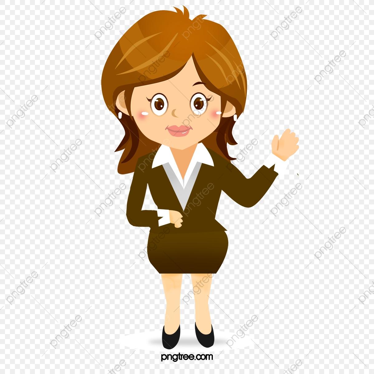 Cartoon Professional Women, Cartoon Clipart, Vector Career Women PNG.