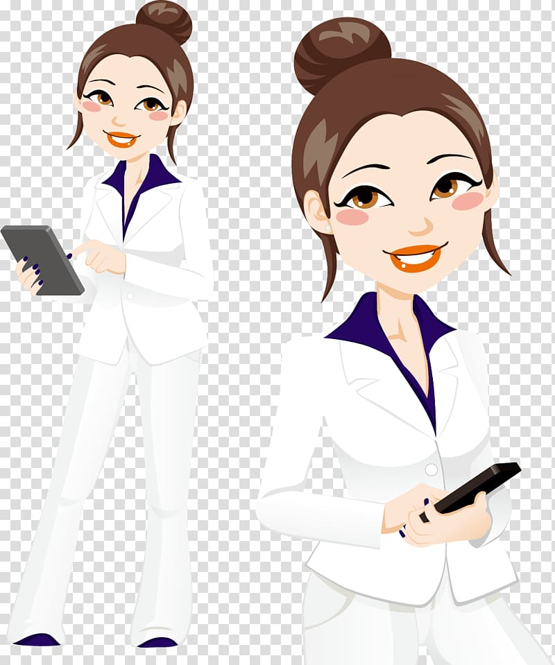 Businessperson Illustration, Business career woman material.