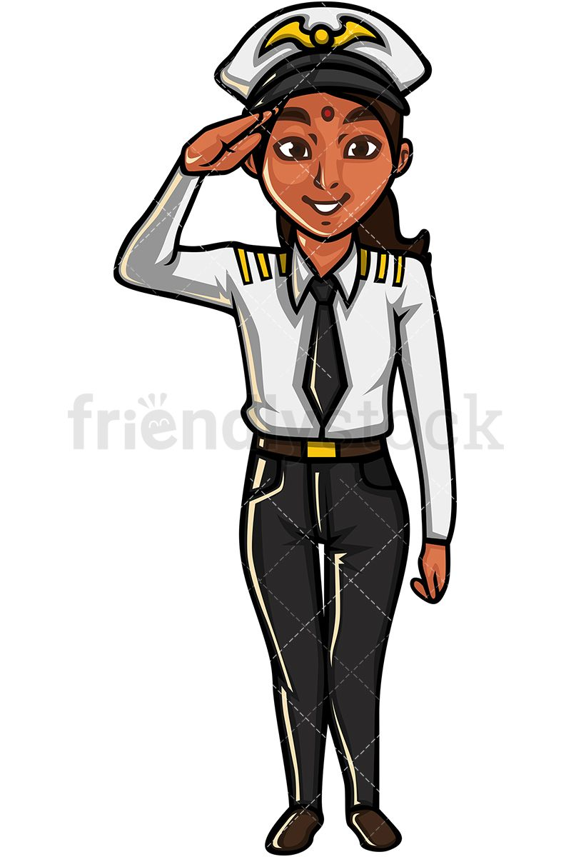 Indian Woman Airline Pilot.