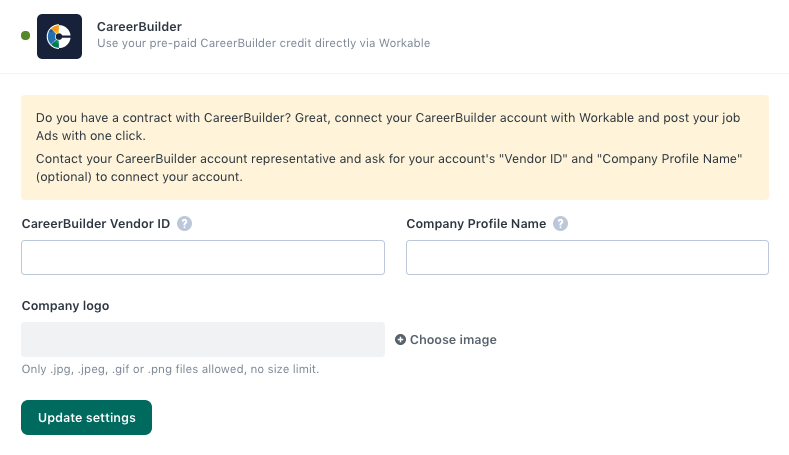 Integrating your CareerBuilder account.