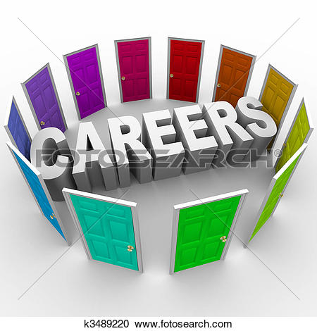 Stock Illustrations of career choices rco0010.